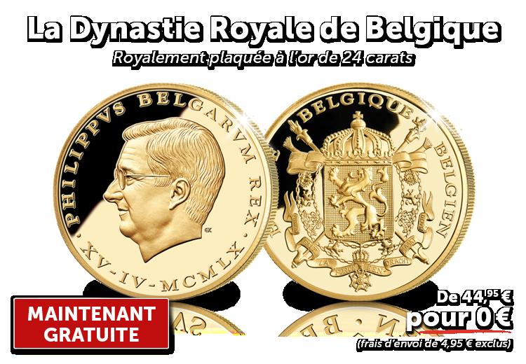L'émission officielle Roi Philippe - généreusement plaquée à l'or de 24 carats