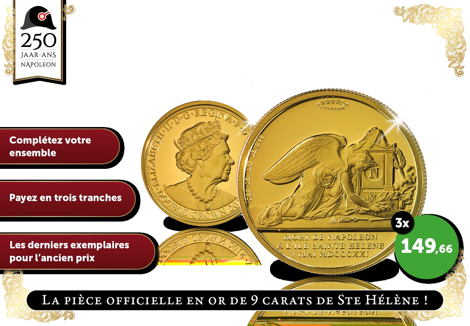 Pièce officielle de Ste Hélène où Napoléon
