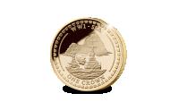 Navires amiraux britanniques de la Royal Navy sur une monnaie officielle