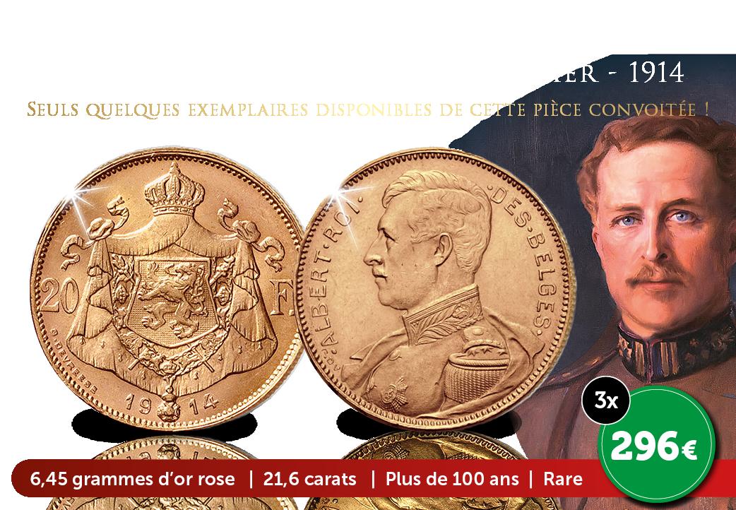 Des 20 Francs en or massif très spéciaux – Albert Ier