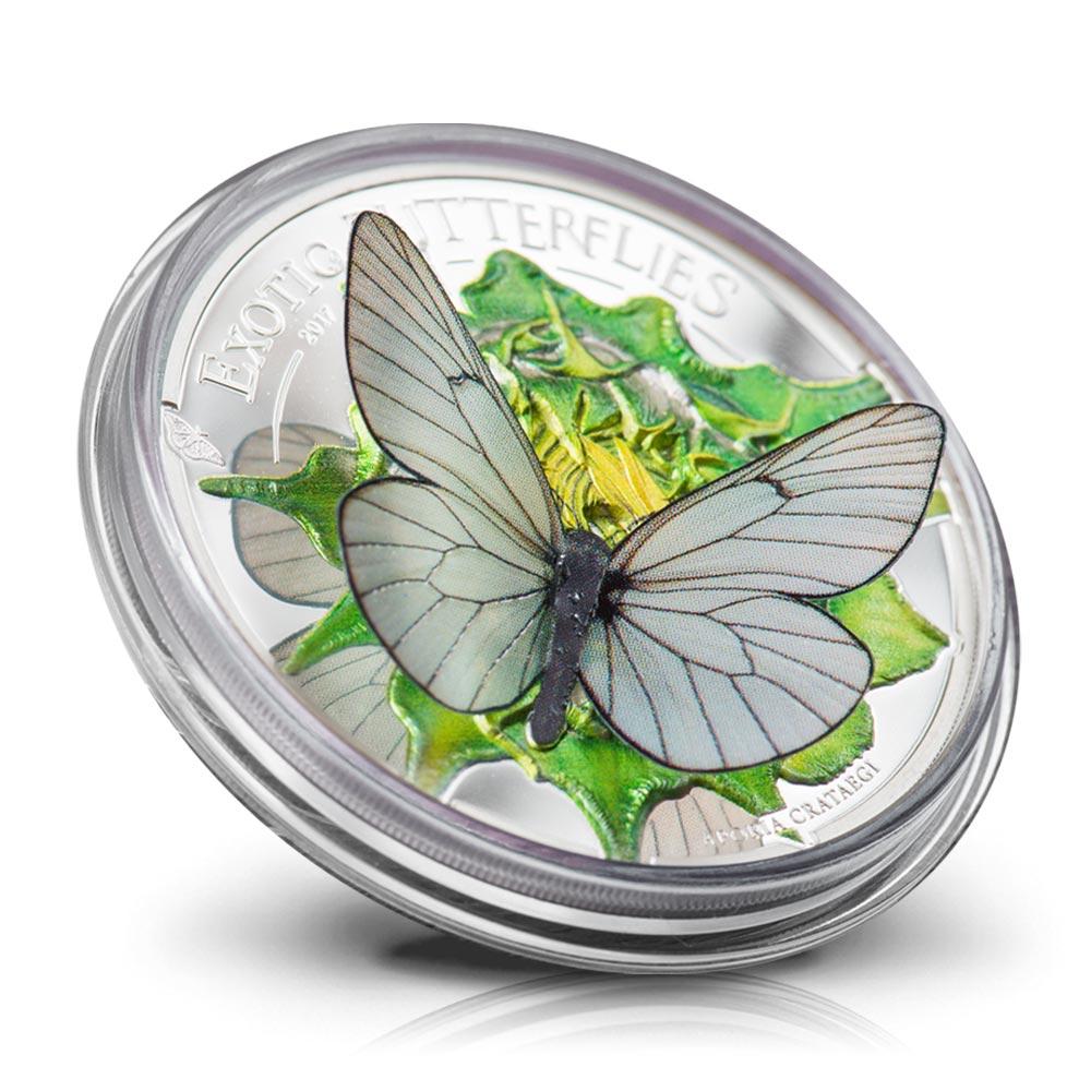 Monnaie 3D - La dernière pièce de la série sans égal « papillons exotiques »