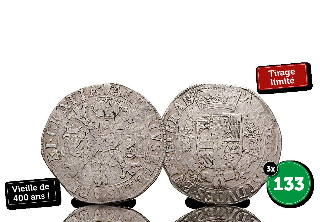Grand Patagon en argent vieux de 400 ans