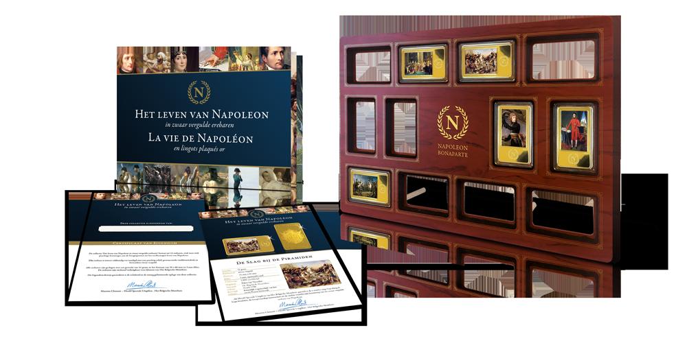 Début de la collection 'La vie de Napoléon en barres d'honneur royalement plaquées or'