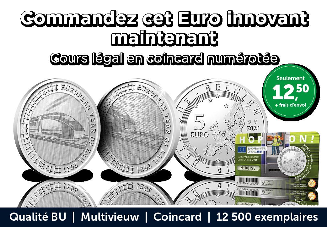 Commandez cet Euro innovant maintenant Cours légal en coincard numérotée
