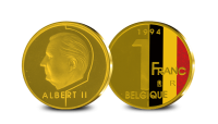 Reproduction des 1 Franc Roi Albert II 1994