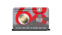 La toute nouvelle pièce commémorative 2 € de 2018 dans une coincard