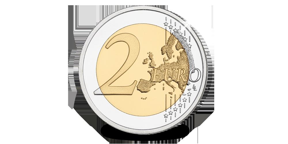 La toute nouvelle pièce commémorative 2 € de 2018 en qualité Belle Epreuve