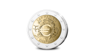 Les 10 ans de l'Euro commémorés sur une pièce commémorative de 2 € de Saint-Marin