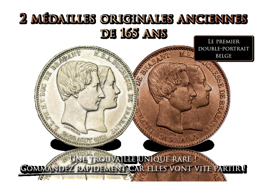 Ensemble des tout premiers doubles-portraits originaux de l'histoire belge.