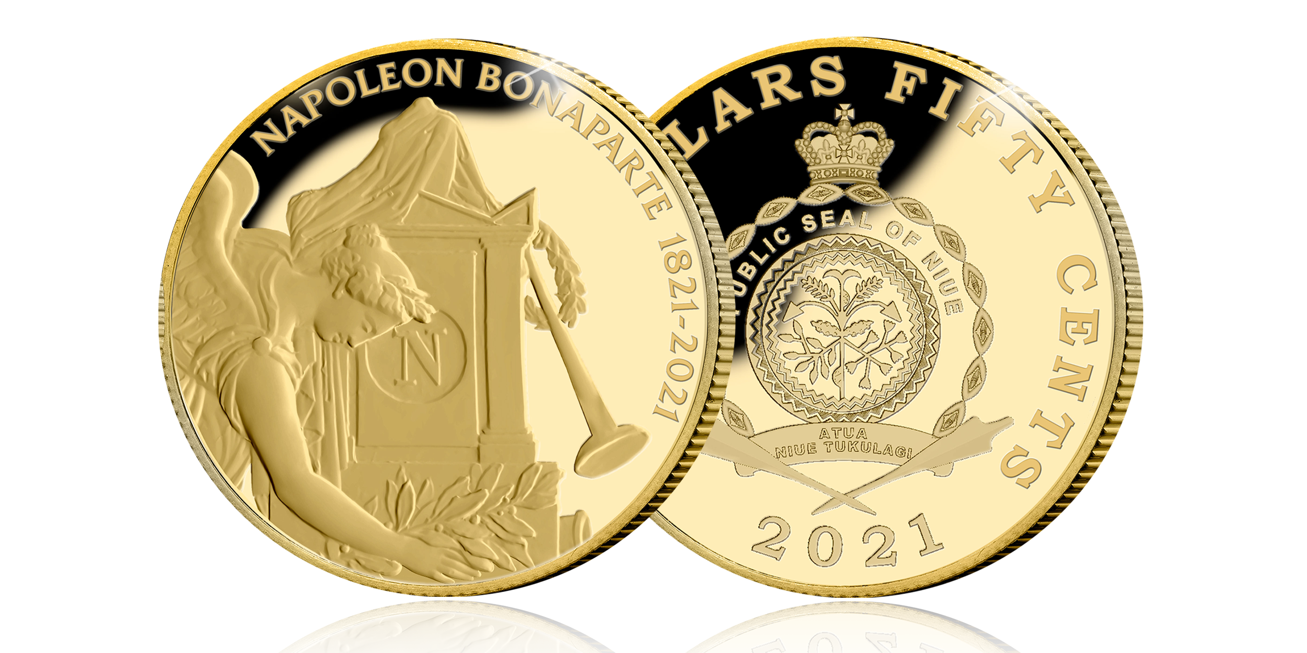 Commémorez le 200e anniversaire de la mort de Napoléon Bonaparte avec une pièce en or 24 carats avers revers