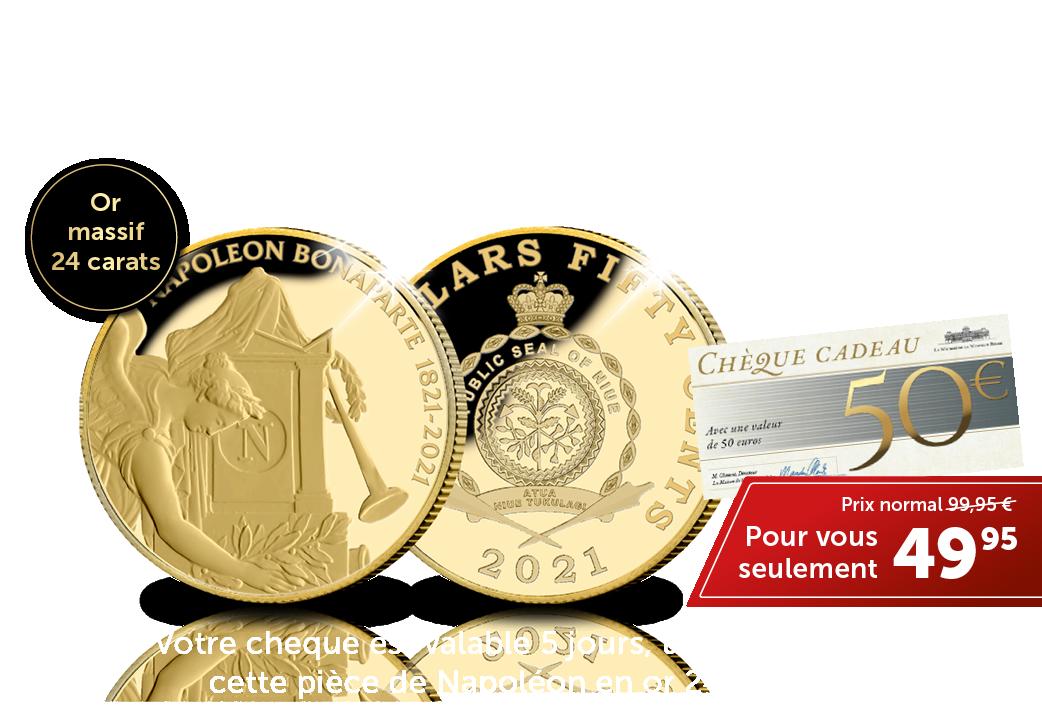 Votre cheque est valable 5 jours, utilisez le pour cette pièce de Napoléon en or 24 carats.