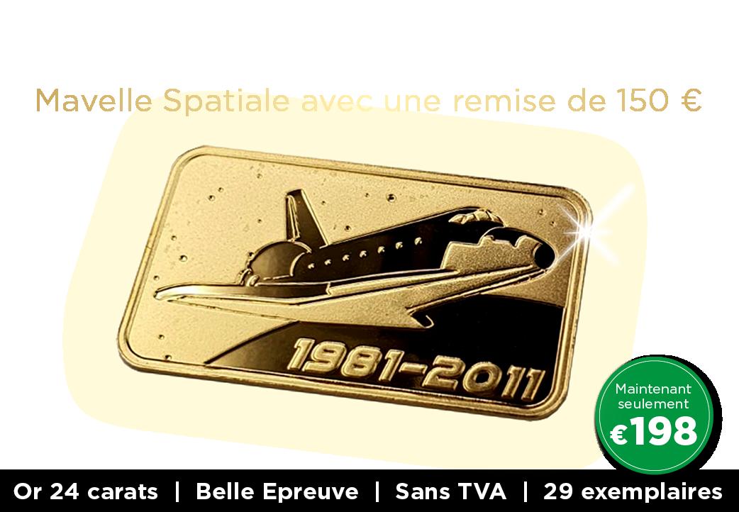 Lingot d'or massif 24 carats – Space Shuttle