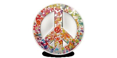 Pièce avec le signe de Summer of love peace