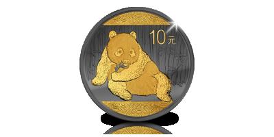 Symbole international : le panda géant en argent pur