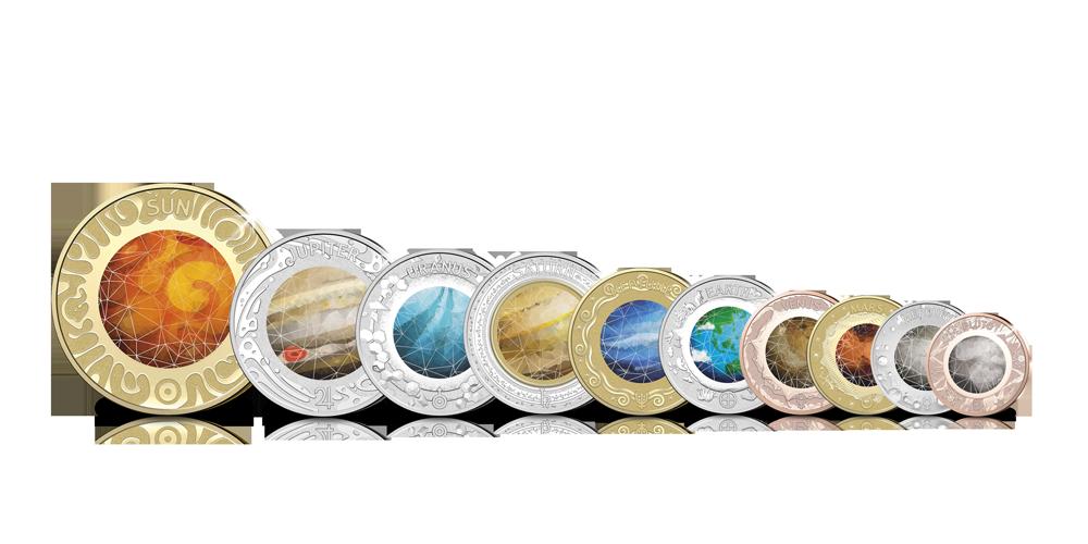 Votre 10 pièces planétaires en blister officiel