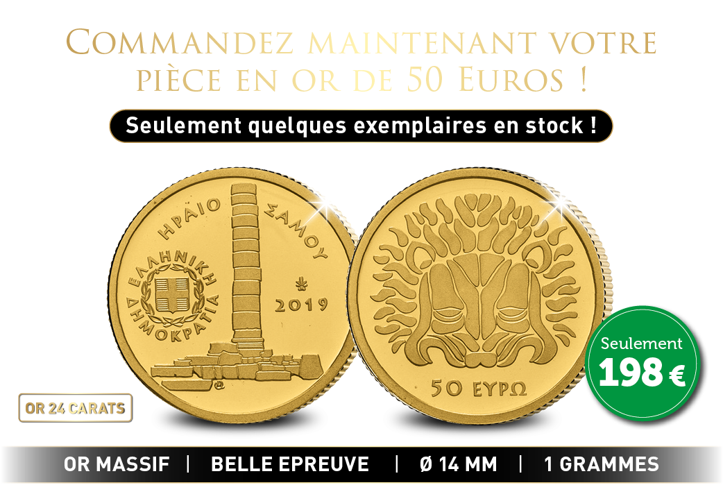 Une pièce de 50 € en or de 24 carats !