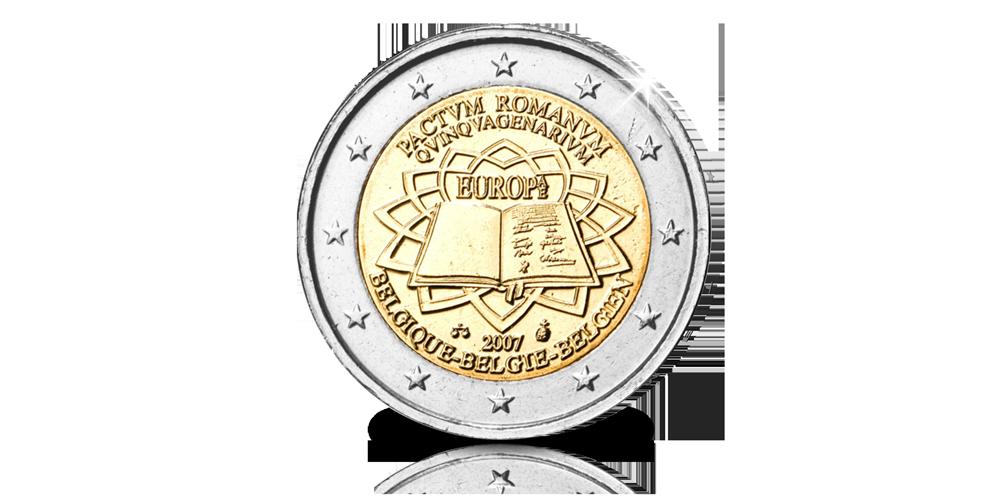 Pièce Commémorative Officielle de 2 Euros: 50 ans du Traité de Rome