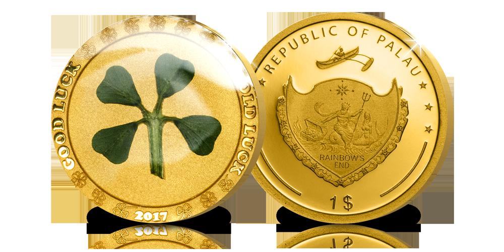 La Pièce d'Or Officielle Trèfle à Quatre Feuilles de 2017 (.9999)