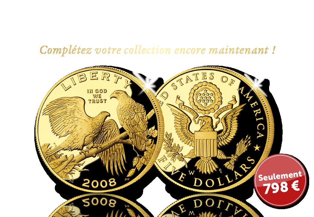 Les 5 Dollars type Bald Eagle - pour votre dossier de collection