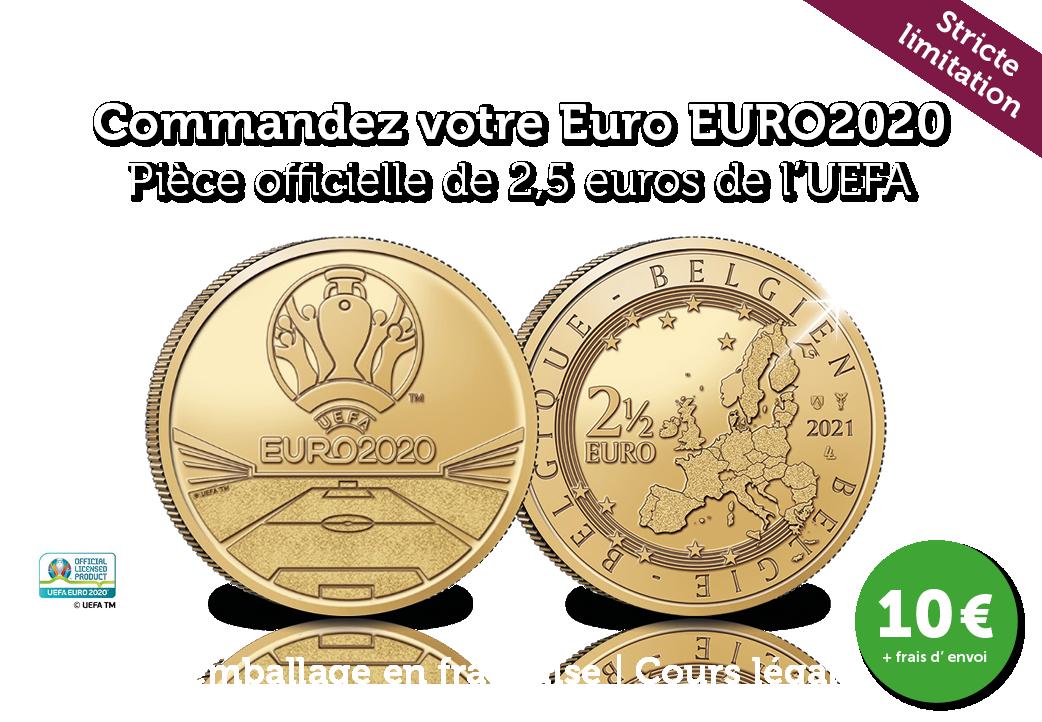 La Pièce Commémorative Euro UEFA   NOUVEAU 2021