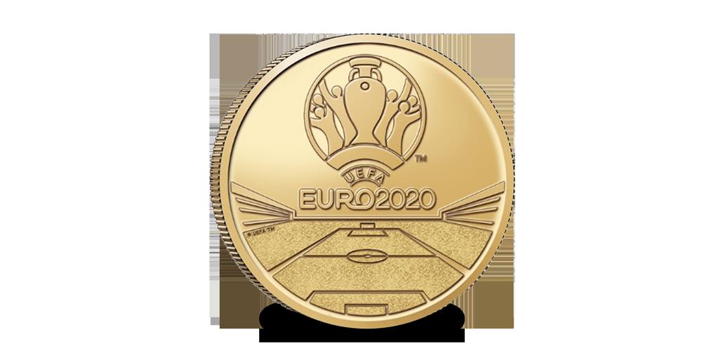 La Pièce Commémorative Euro UEFA | NOUVEAU 2021 | Coincard: Flamand avers