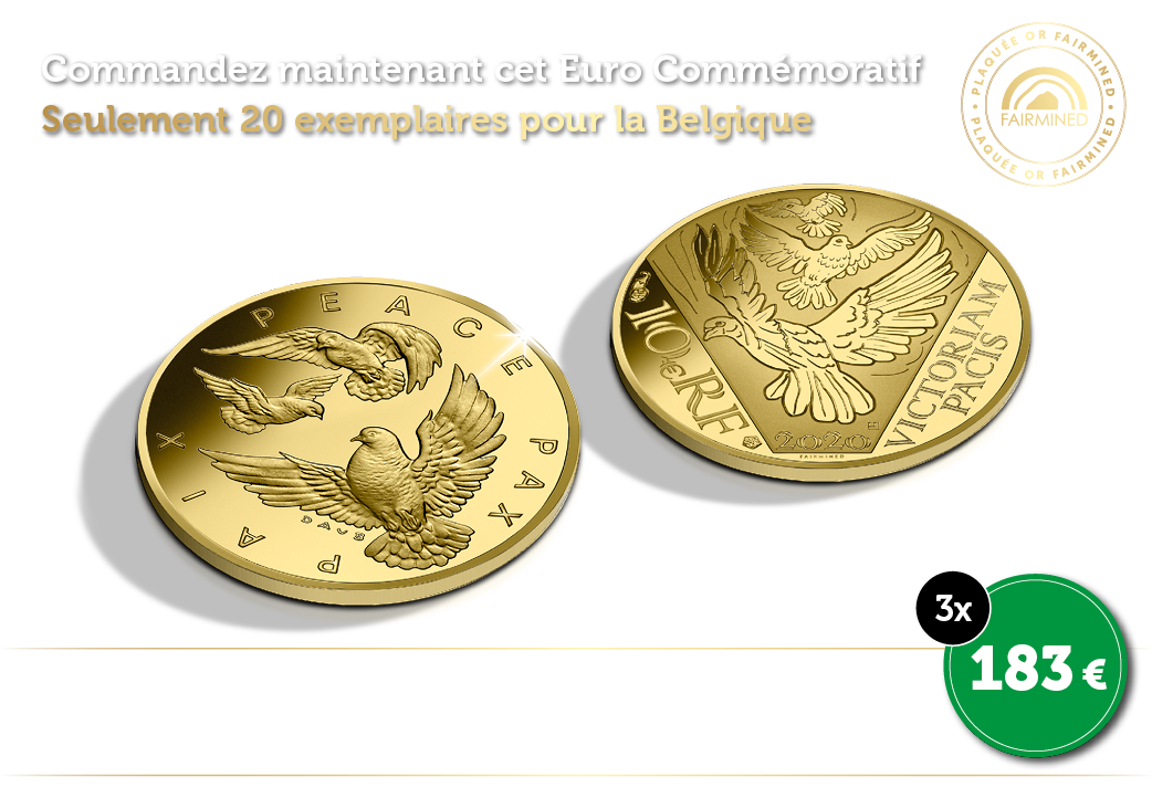 Euro Commémoratif en or 24 carats