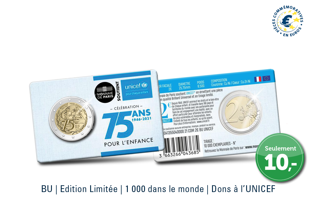EXCLUSIF   Pièce commémorative 2 € UNICEF