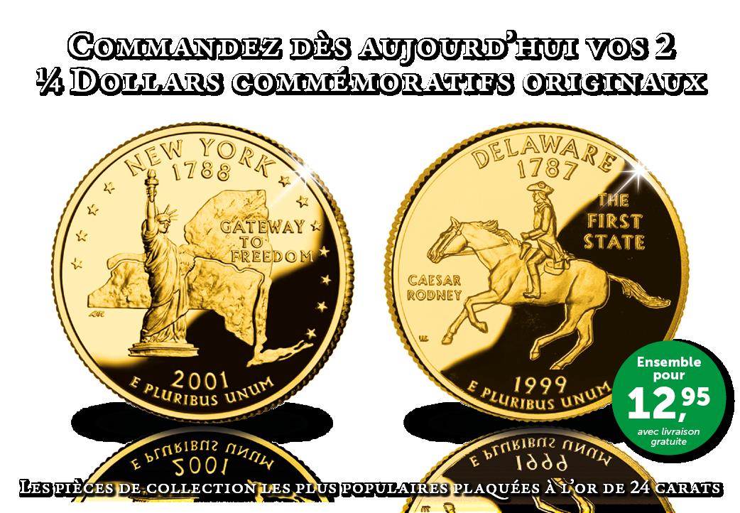 La série '50 State Quarter' : 50 pièces uniques