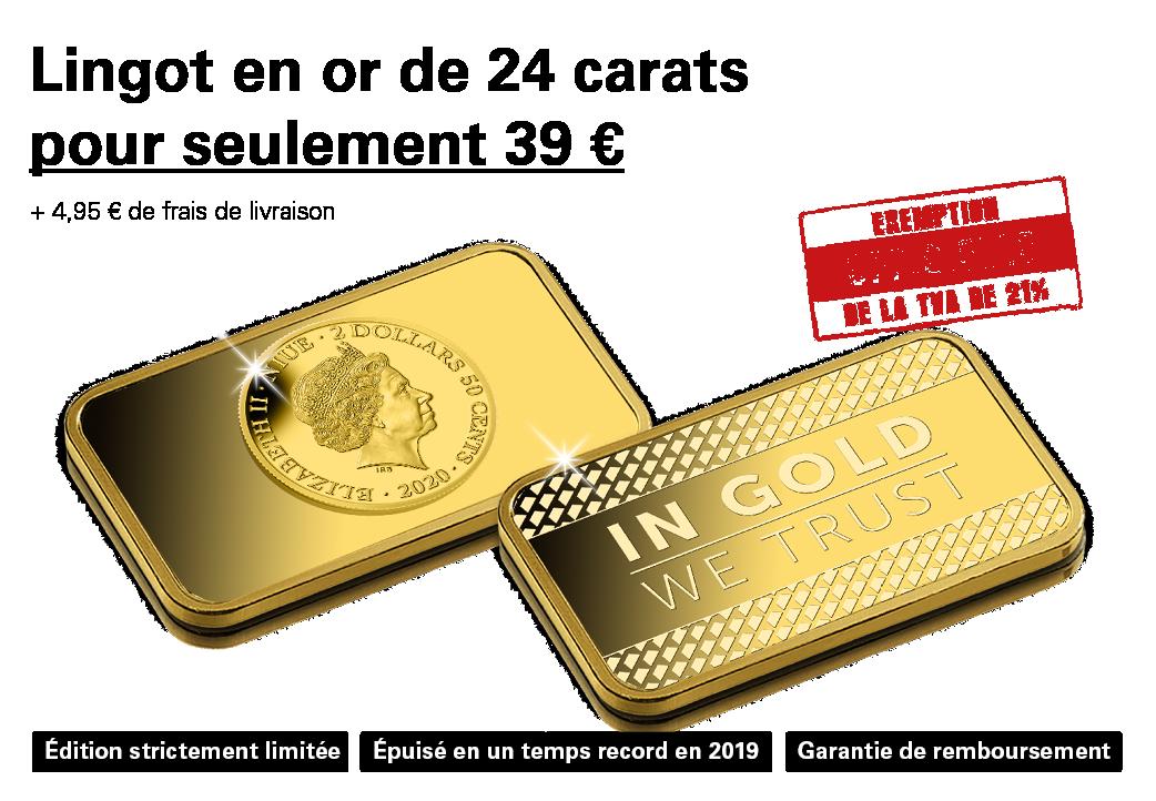Une offre en or    Petit lingot en or pour un petit prix !