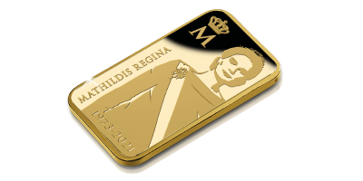 Lingot d'or 24 carats | Certificat unique numéroté | Coffret de luxe | La célébration nationale officielle de l'anniversaire de la reine Mathilde