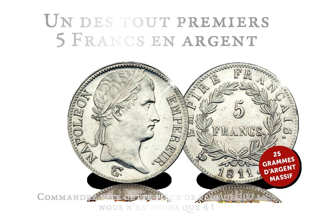 Un des tout premiers 5 Francs en argent