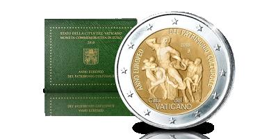 Vos 2 € exclusifs Année européenne du Patrimoine culturel 2018 Cité du Vatican