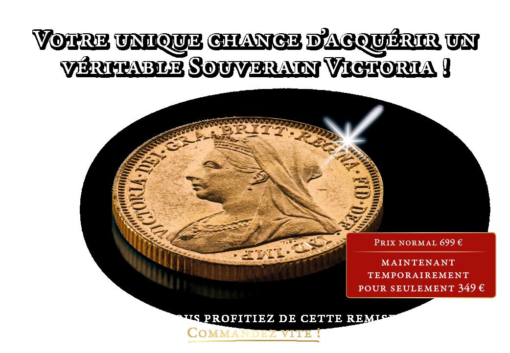 Le Souverain en or massif (1893-1901) de la reine Victoria.