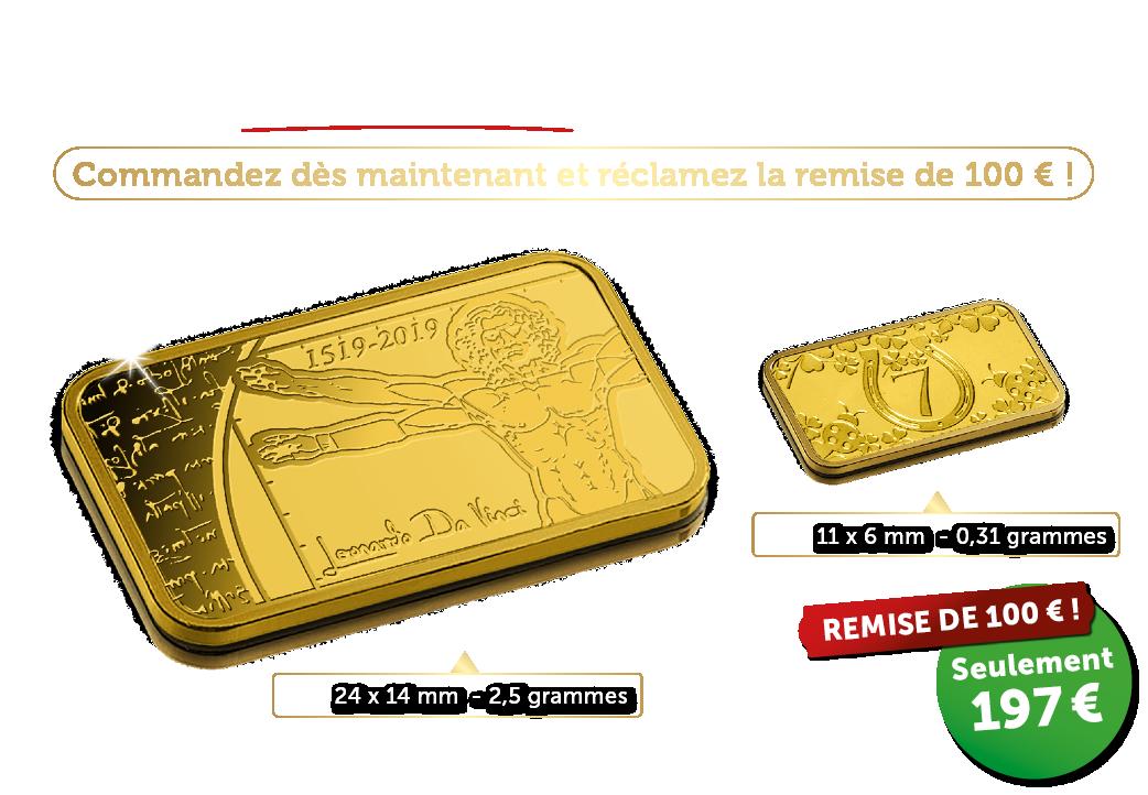 Près de 8 fois plus d'or pur de 24 carats !