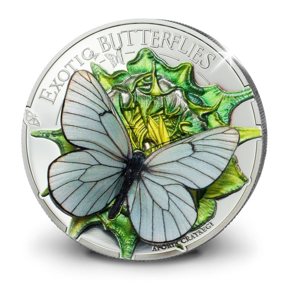 Monnaie 3D - « papillon exotique »
