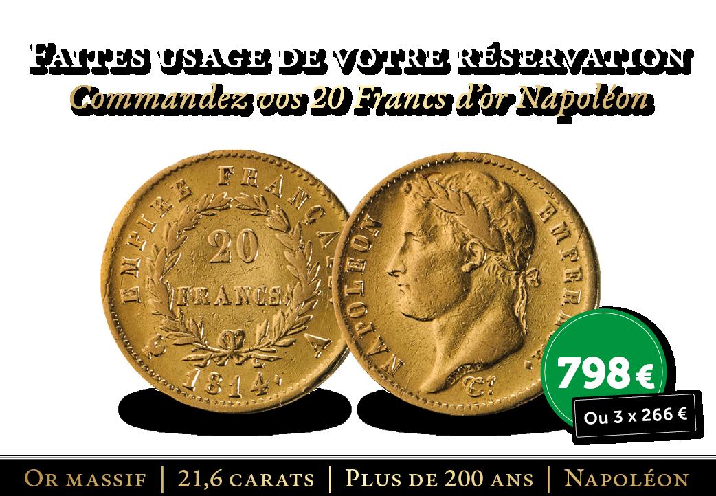 Des 20 Francs d'or rares vous attendent