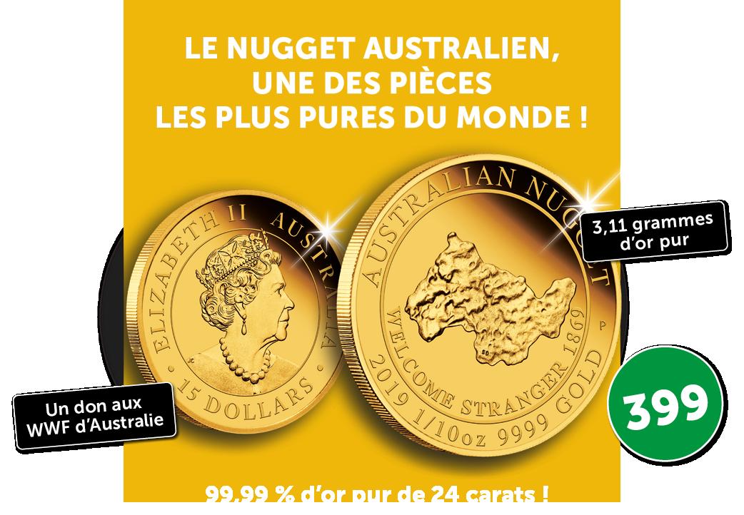 La pièce en l'honneur de la ruée vers l'or qui rendit l'Australie riche !